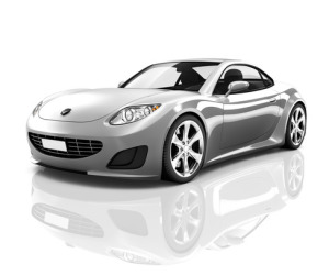 Luxury Silver Sports Car